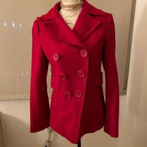 Guess Jeans Red Peacoat